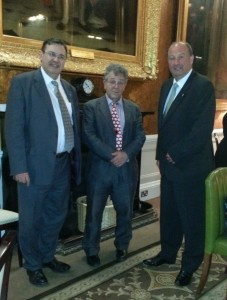 Chris Day with Prof Moorcraft and Robert Frith at the Literary Dinner